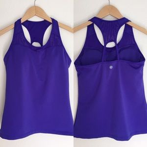 Athleta purple built-in bra top athletic tank M